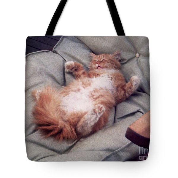 cute cat pictures - Another Rough Day Tote Bag