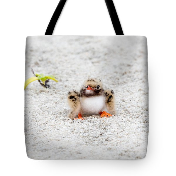 Cute Chick At Beach Tote Bag