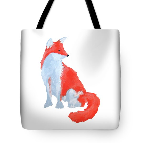 Cute Fox With Fluffy Tail Tote Bag
