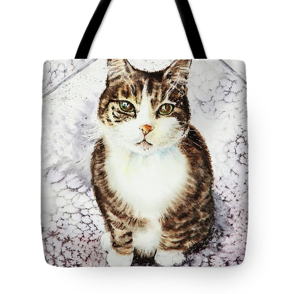 Cute Furry Friend Cat Painting Tote Bag