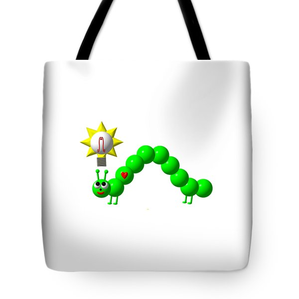 Cute Inchworm With An Idea Tote Bag by Rose Santuci-Sofranko