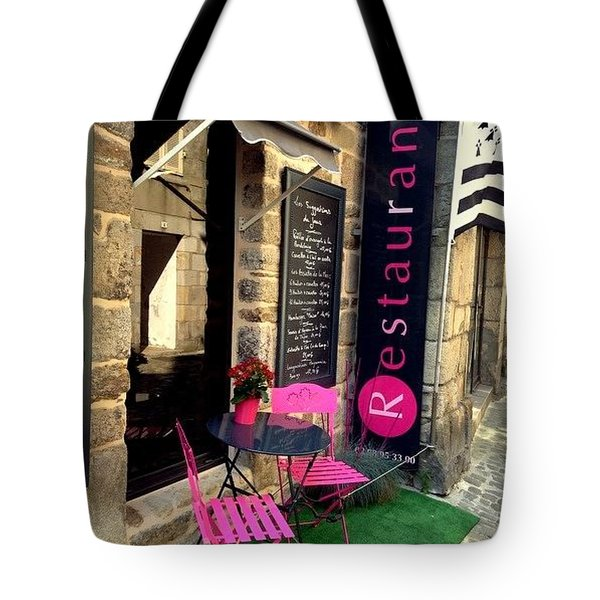 Cute Little Restaurant At France Tote Bag