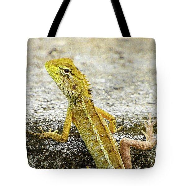 Cute Yellow Lizard Tote Bag