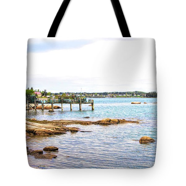 Tote Bag featuring the photograph Cutler Pier by Betty Pauwels