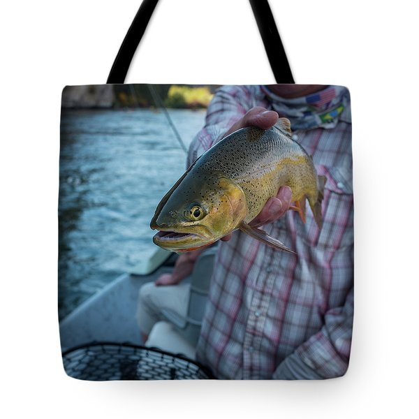 Cutthroat Trout Tote Bag by Ron White