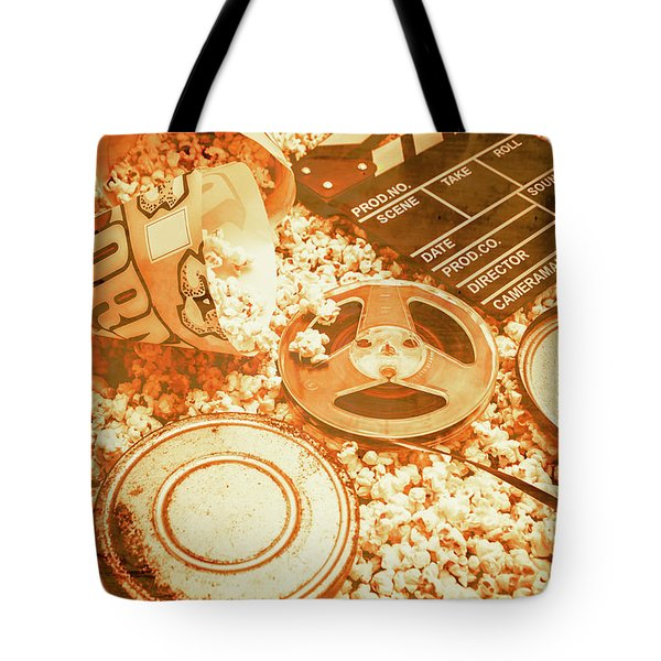 Cutting A Scene Of Vintage Film Tote Bag by Jorgo Photography - Wall Art Gallery