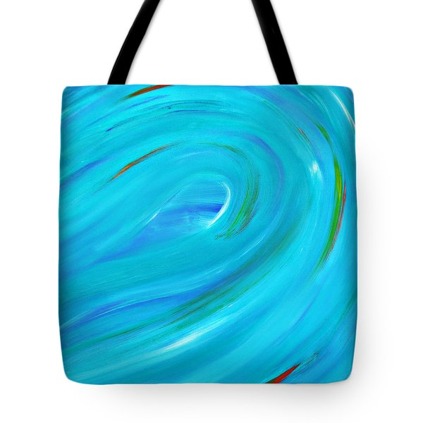 Tote Bag featuring the painting Cy Lantyca 14 by Cyryn Fyrcyd