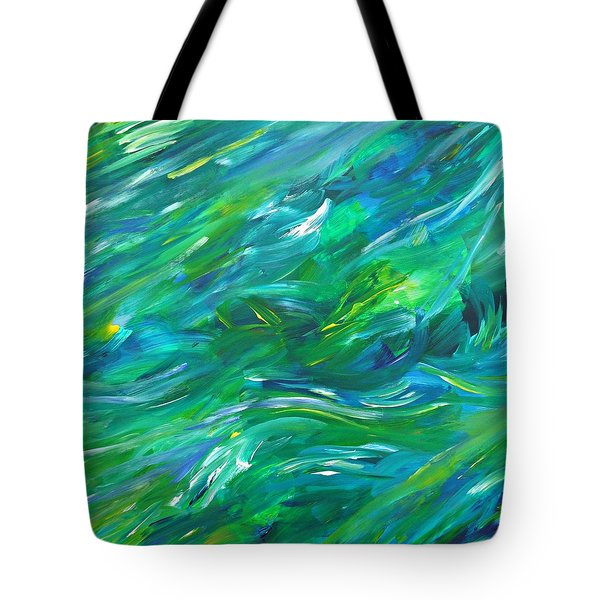 Tote Bag featuring the painting Cy Lantyca 15 by Cyryn Fyrcyd