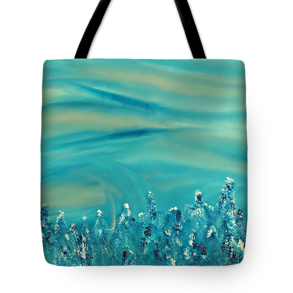 Tote Bag featuring the painting Cy Lantyca 18 by Cyryn Fyrcyd
