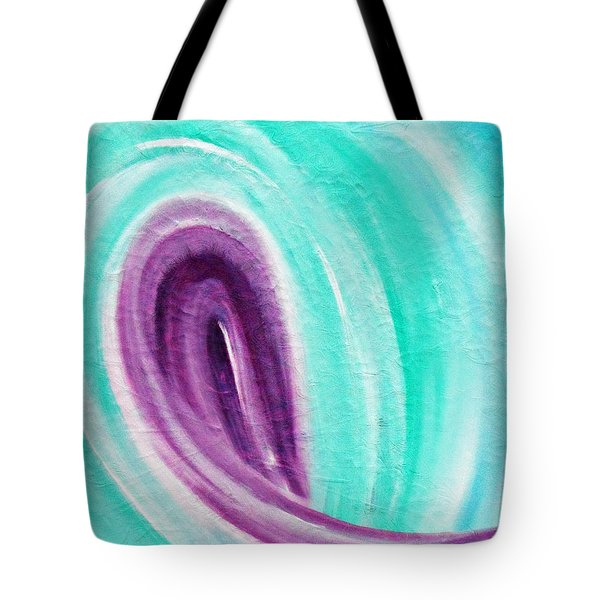 Tote Bag featuring the painting Cy Lantyca 26 by Cyryn Fyrcyd