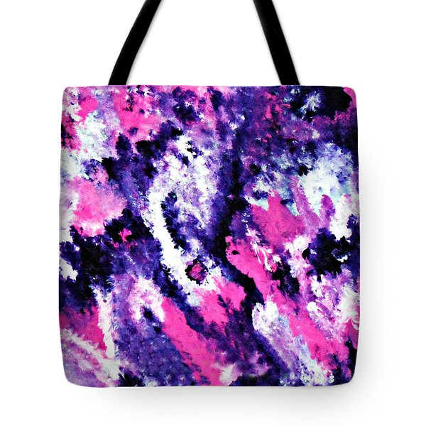 Tote Bag featuring the painting Cy Lantyca 29 by Cyryn Fyrcyd