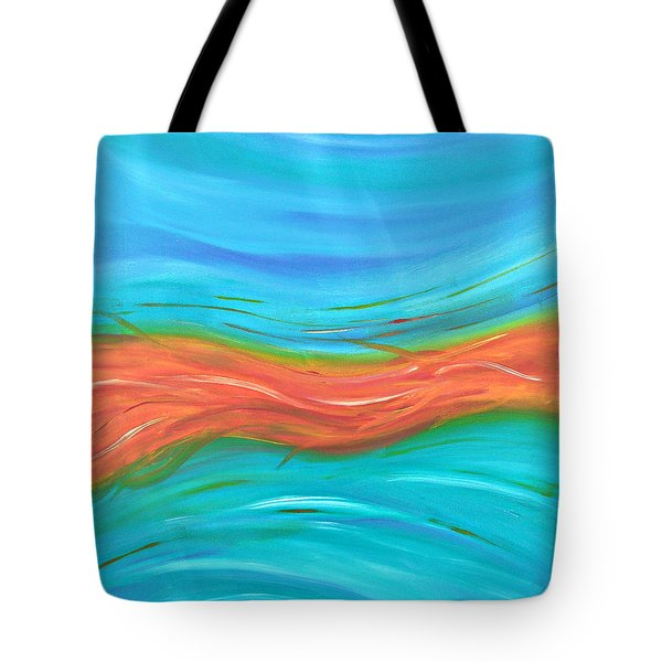 Tote Bag featuring the painting Cy Lantyca13 by Cyryn Fyrcyd