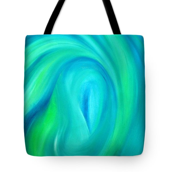 Tote Bag featuring the painting Cy Lantyca17 by Cyryn Fyrcyd