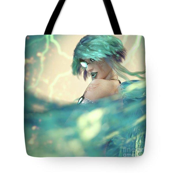 Cyan Tote Bag