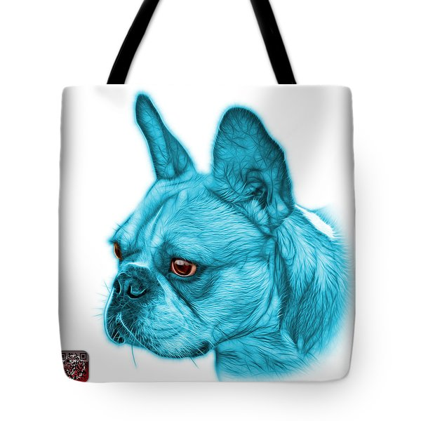 Cyan French Bulldog Pop Art - 0755 Wb Tote Bag