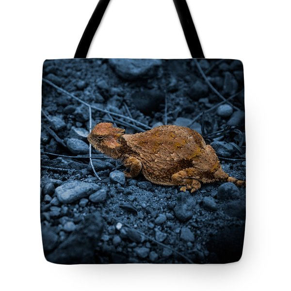 Cyanotype Horned Toad Tote Bag