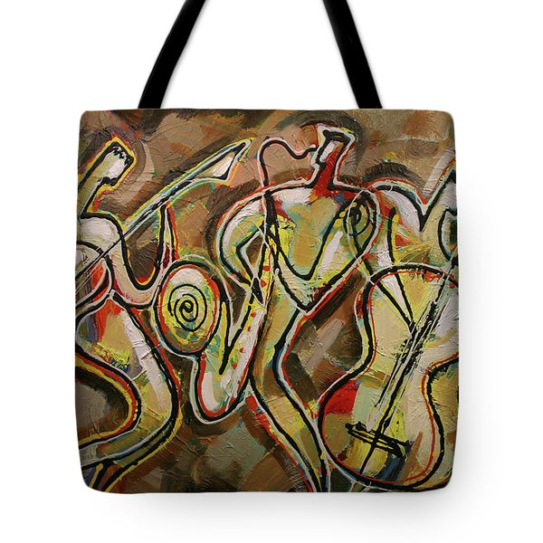 Cyber Jazz Tote Bag