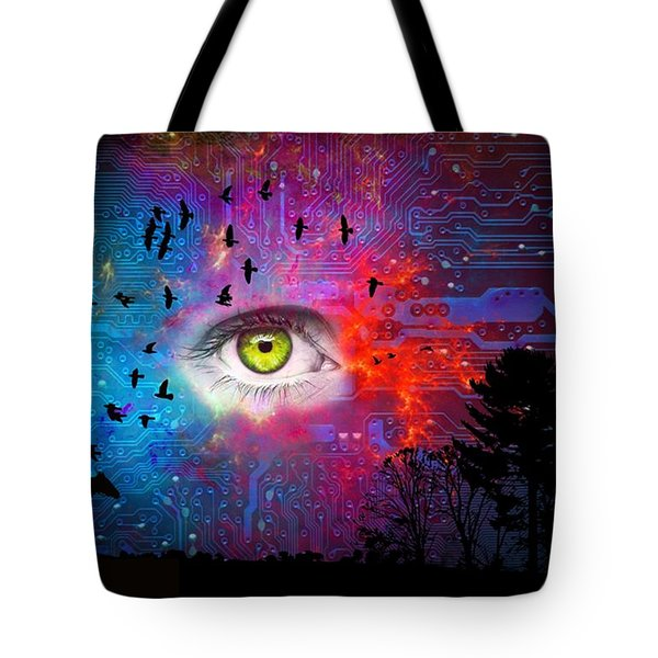 Cyber Nature Tote Bag