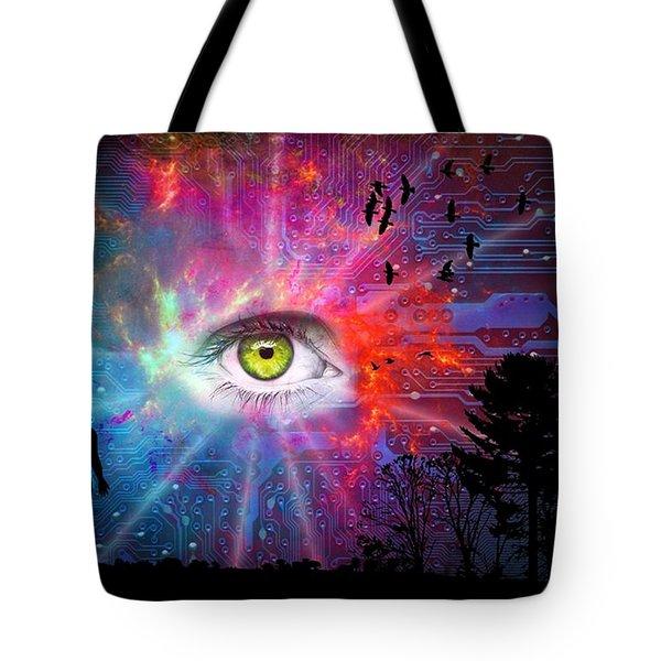 Cyber Sky Tote Bag