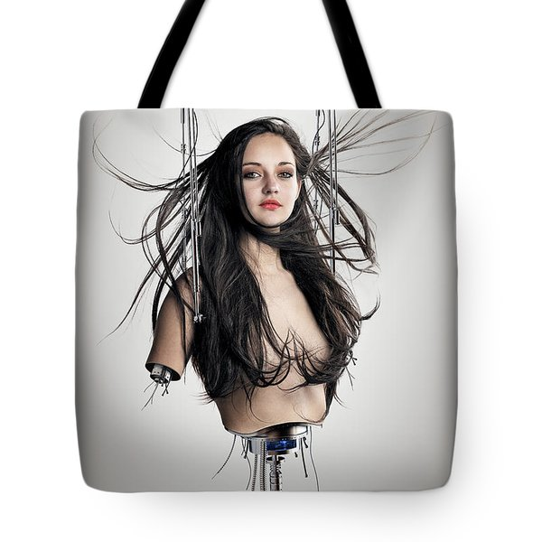Cyborg Woman Tote Bag