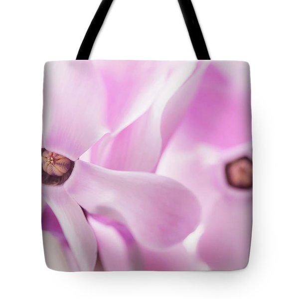 Cyclamen Hearts Tote Bag
