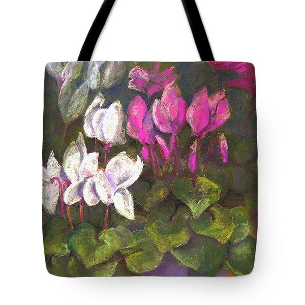 Cyclamen Tote Bag by Julie Maas