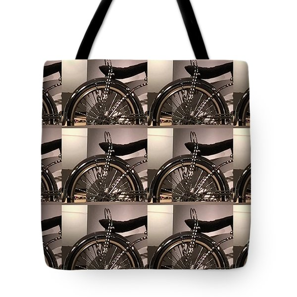 Tote Bag featuring the photograph Cycle Bicycle Race Fan Graphics On Pillows Curtains Towels Tote Bags Phone Cases Christmas Holidays  by Navin Joshi