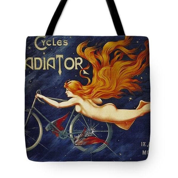 Cycles Gladiator  Vintage Cycling Poster Tote Bag