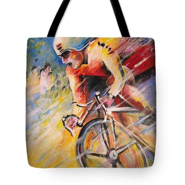 Cycling Tote Bag by Miki De Goodaboom