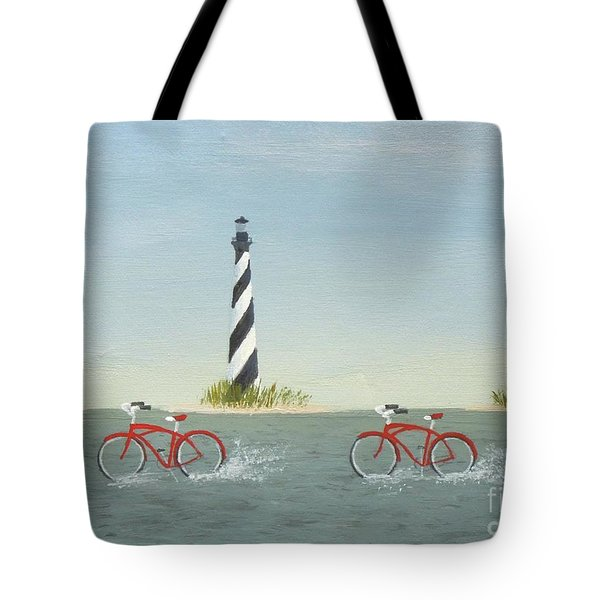 Cycling The Pamlico Sound Tote Bag