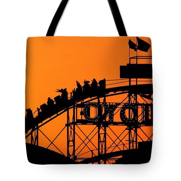 Cyclone Tote Bag by Mitch Cat