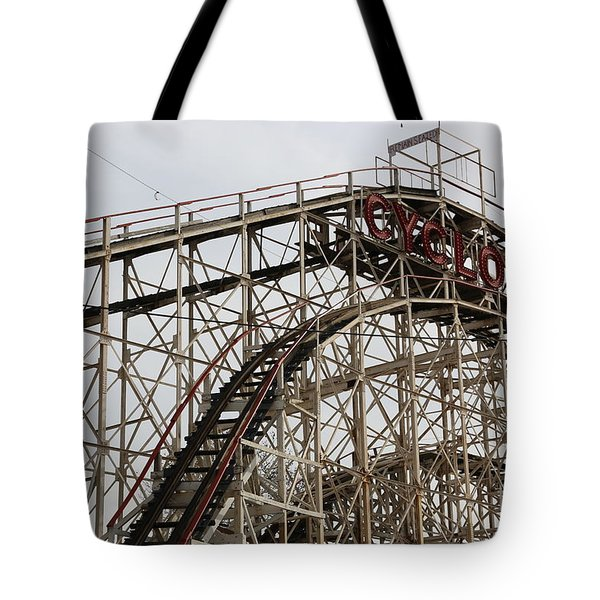 Cyclone Roller Coaster Coney Island Ny Tote Bag