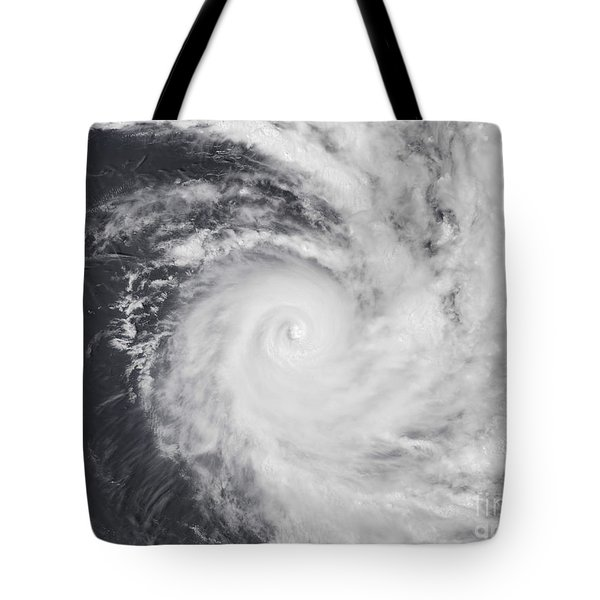 Cyclone Zoe In The South Pacific Ocean Tote Bag by Stocktrek Images