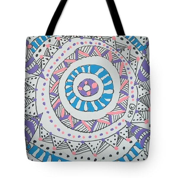 Tote Bag featuring the drawing Cylinder by Carole Breccht
