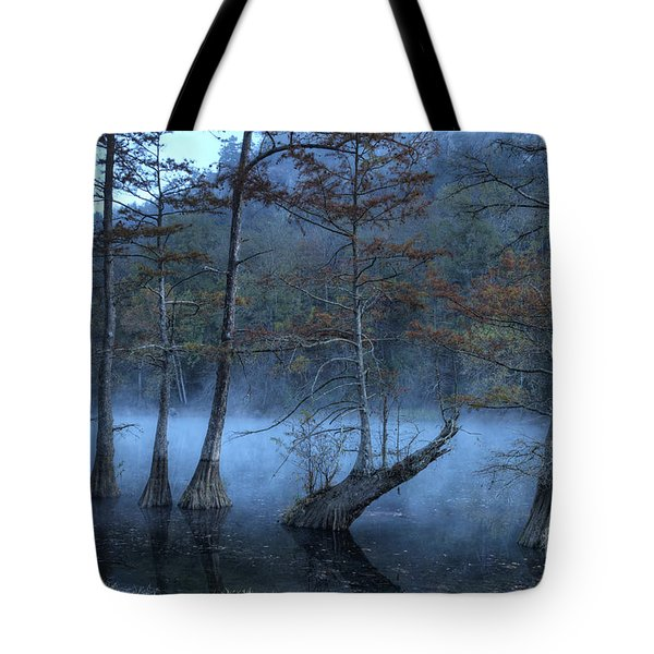 Tote Bag featuring the photograph Cypress Awakening by Tamyra Ayles