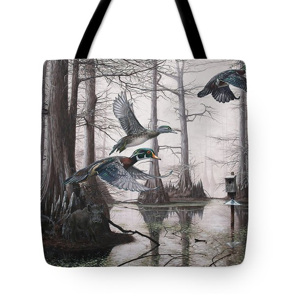 Cypress Bayou Neighbors Tote Bag