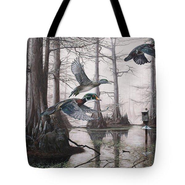 Cypress Bayou Neighbors Tote Bag