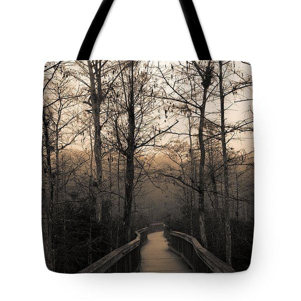 Cypress Boardwalk Tote Bag