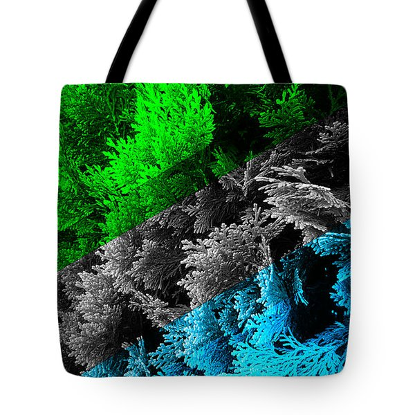 Cypress Branches No.6 Tote Bag by Cesar Padilla