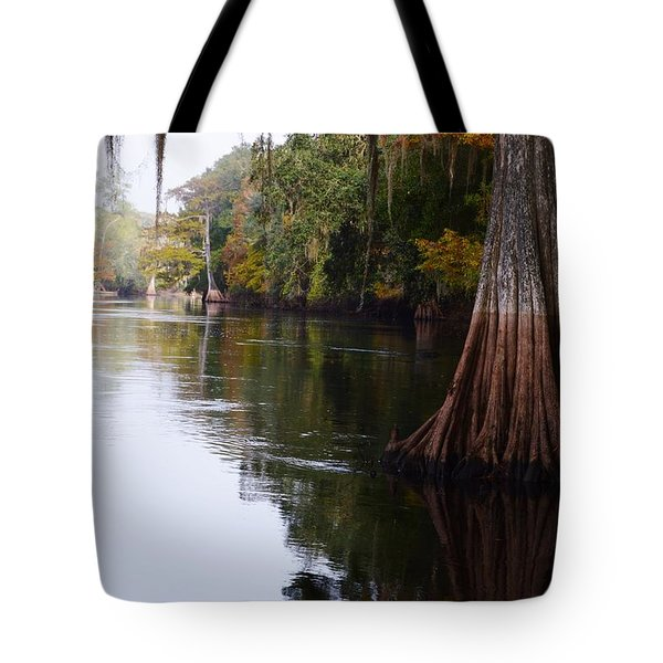 Cypress High Water Mark Tote Bag by Warren Thompson