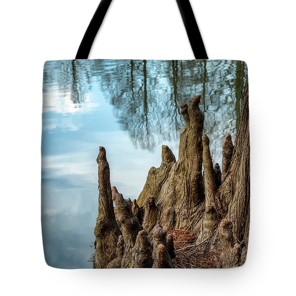 Tote Bag featuring the photograph Cypress Knees by James Barber