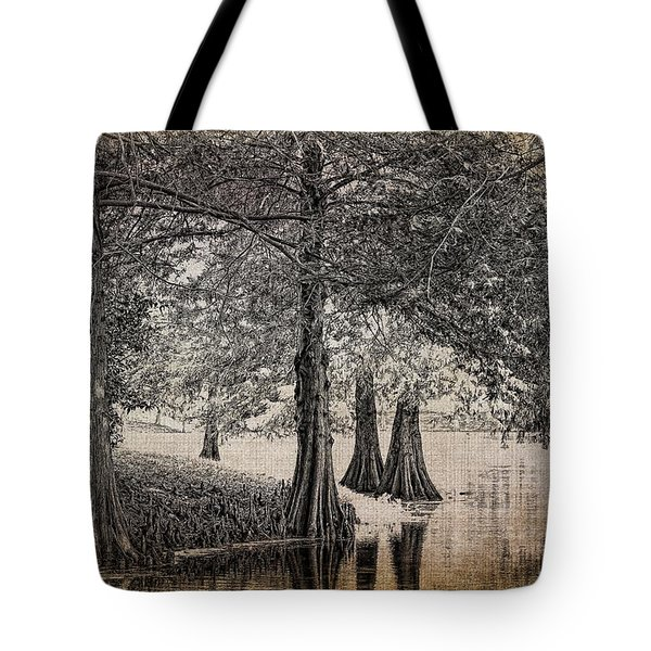 Cypress Retreat Tote Bag