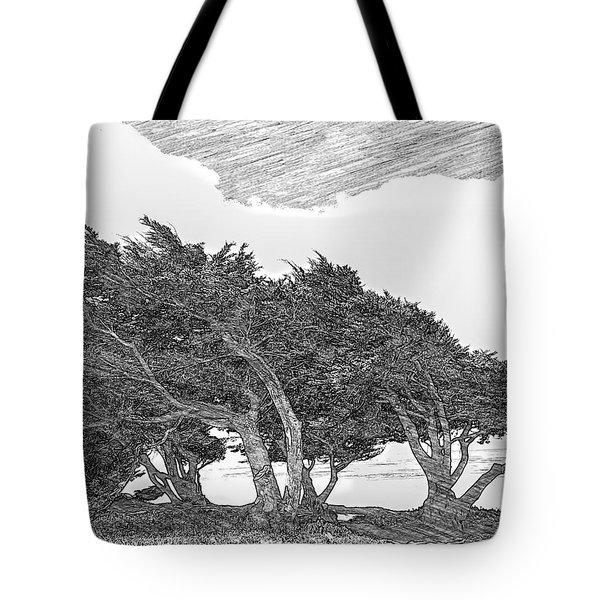 Cypresses Tote Bag