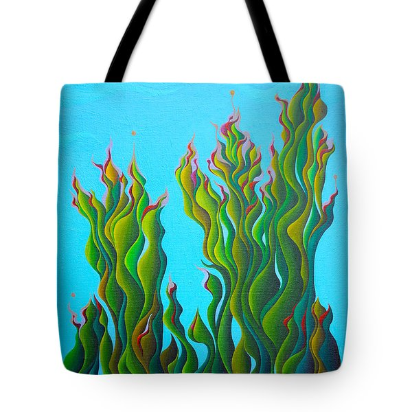 Cypressing A Wave Tote Bag