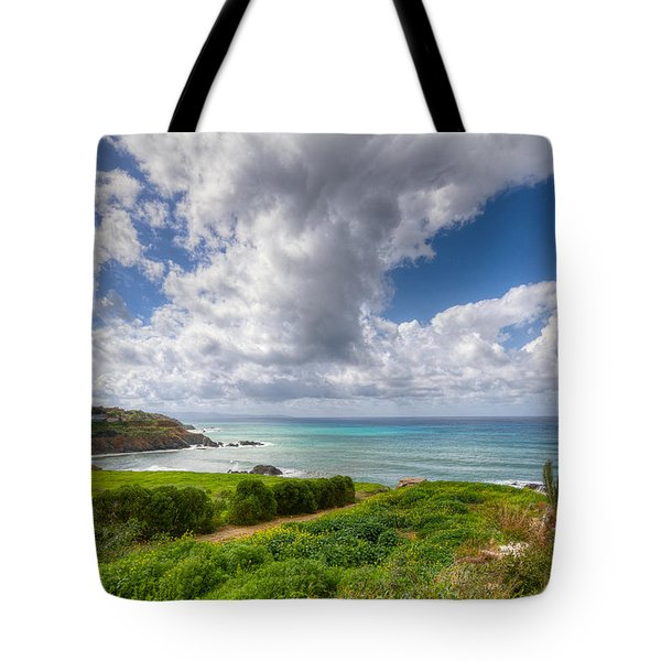 Cyprus Spring Seascape And Landscape Tote Bag