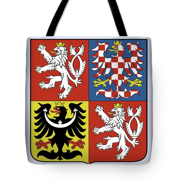 Tote Bag featuring the drawing Czech Republic Coat Of Arms by Movie Poster Prints