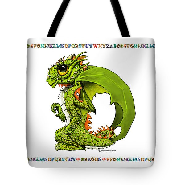 Tote Bag featuring the digital art D Is For Dragon by Stanley Morrison