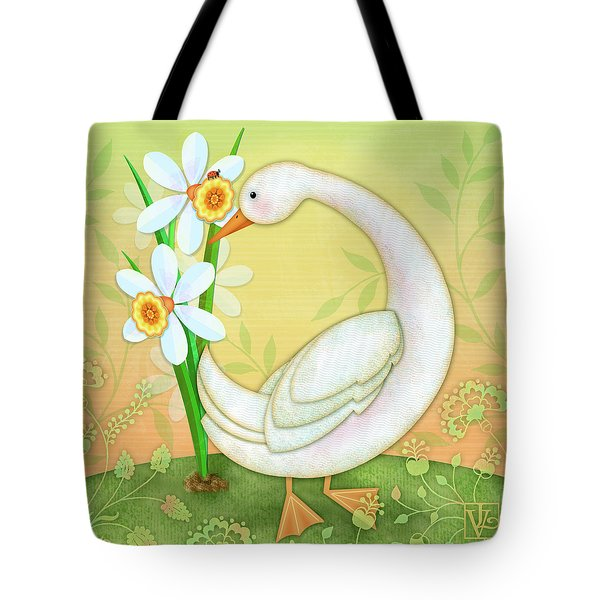 D Is For Duck And Daffodils Tote Bag