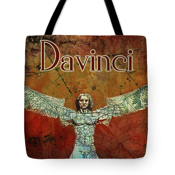 Tote Bag featuring the digital art da Vinci 2023 by Greg Sharpe
