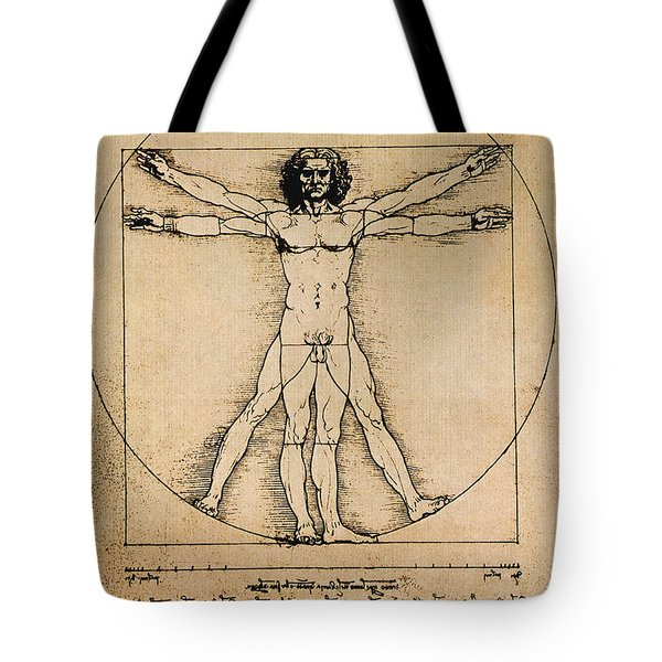 Da Vinci Rule Of Proportions Tote Bag by Science Source